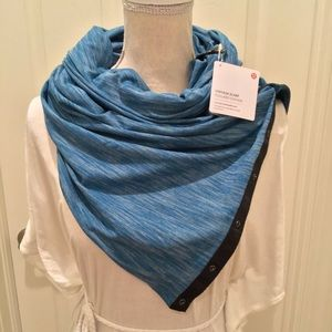 Lululemon Vinyasa Scarf heathered tofino teal blue